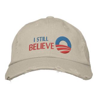 Eu ainda acredito - o boné bordado Obama