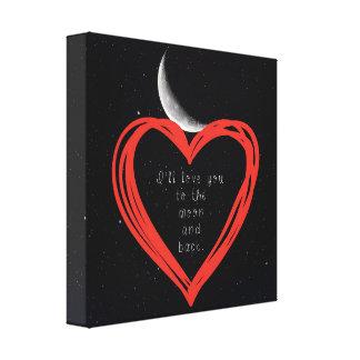 Eu amá-lo-ei à lua e ao impressão traseiro das