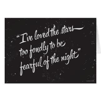 Eu amei as estrelas cartão comemorativo