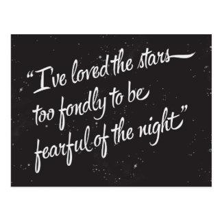 Eu amei as estrelas cartão postal
