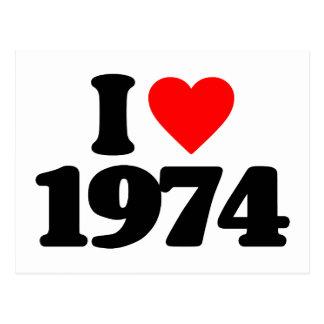 EU AMO 1974 CARTÕES POSTAIS