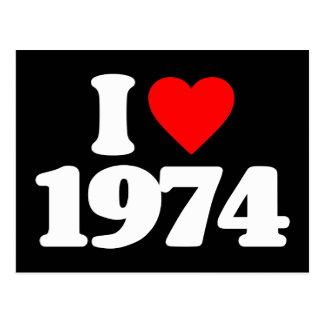 EU AMO 1974 CARTAO POSTAL