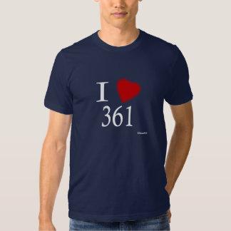 Eu amo 361 Corpus Christi Camisetas