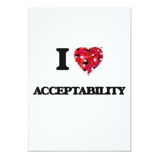 Eu amo a aceitabilidade convite 12.7 x 17.78cm