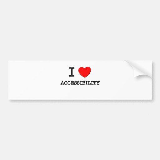 Eu amo a acessibilidade adesivo