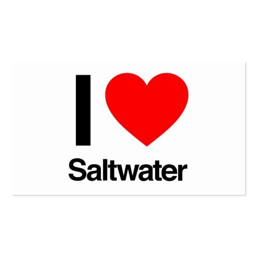 eu amo a água salgada cartões de visitas