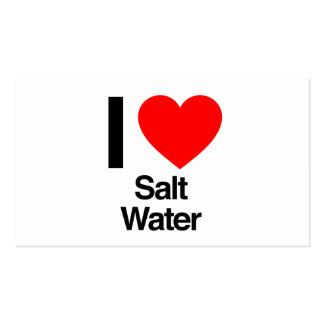 eu amo a água salgada cartão de visita