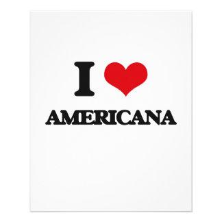 Eu amo a AMERICANA Panfletos Coloridos