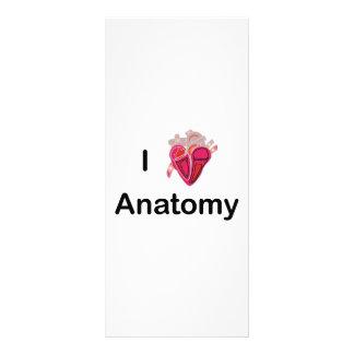 Eu amo a anatomia com coração humano! 10.16 x 22.86cm panfleto