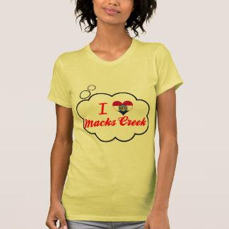 Eu amo a angra de Macks, Missouri Camiseta
