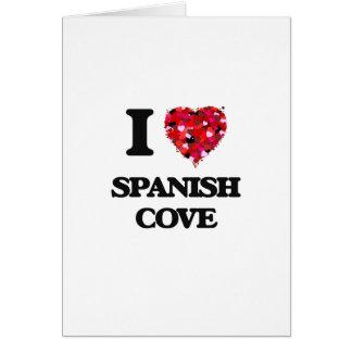 Eu amo a angra espanhola Alabama Cartão Comemorativo