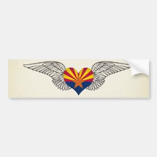 Eu amo a arizona - asas adesivo para carro