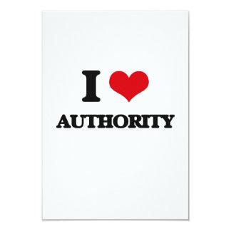 Eu amo a autoridade convite 8.89 x 12.7cm