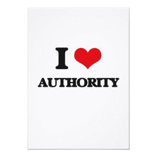 Eu amo a autoridade convite 12.7 x 17.78cm