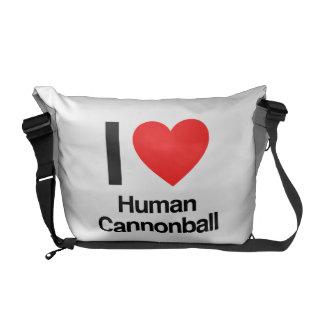 eu amo a bala de canhão humana bolsa mensageiro