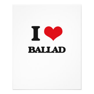 Eu amo a BALADA Panfleto