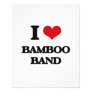 Eu amo a BANDA DE BAMBU Panfletos Personalizados