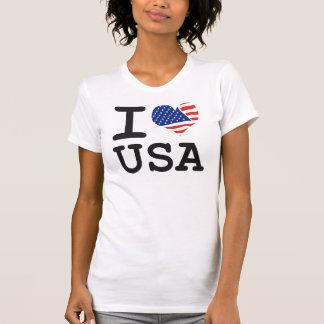 Eu amo a bandeira EUA T-shirts
