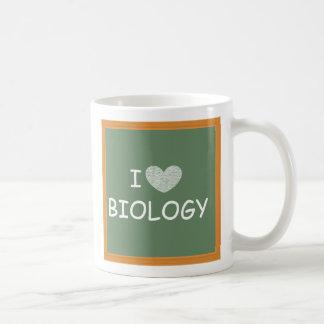 Eu amo a biologia caneca de café