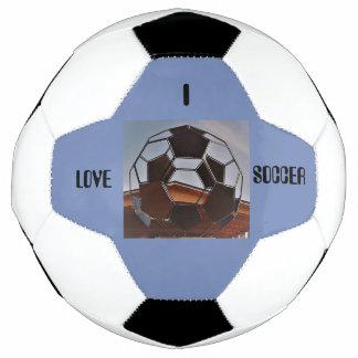 Eu amo a bola de futebol