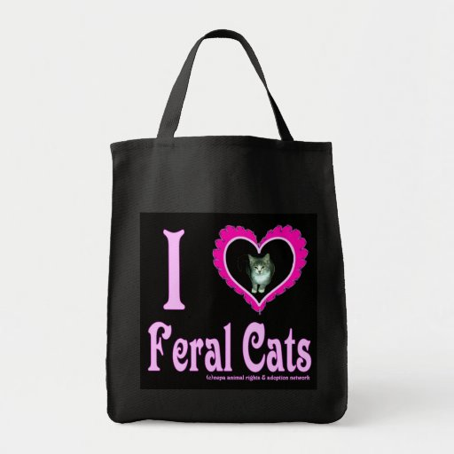 Eu amo a bolsa de compra feroz dos gatos