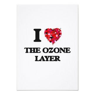 Eu amo a camada de ozônio convite 12.7 x 17.78cm