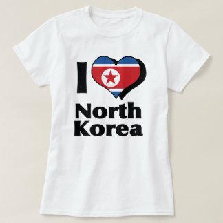 Eu amo a camisa da bandeira da Coreia do Norte T-shirts