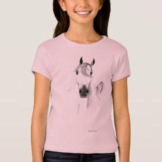 Eu amo a camisa da boneca das meninas dos cavalos