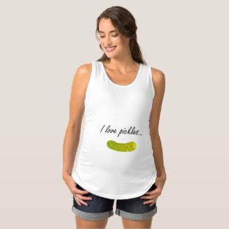 Eu amo a camisa da maternidade das salmouras