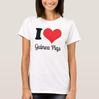 Eu amo a camisa das cobaias