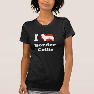 EU AMO a camisa das mulheres de border collie