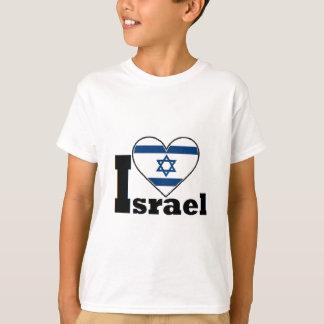 Eu amo a camisa de Israel - com a grande bandeira