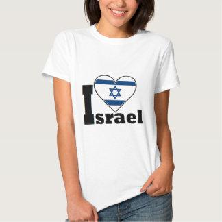 Eu amo a camisa de Israel - com a grande bandeira Camiseta