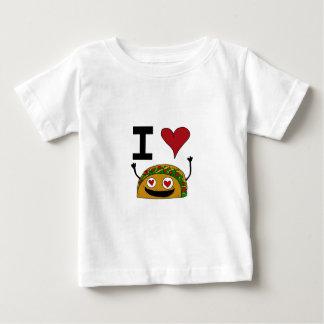 Eu amo a camisa do bebê do Taco Tshirts