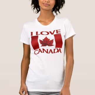 Eu amo a camisa do Canadá das mulheres da camisola