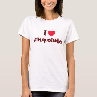 Eu amo a camisa do chocolate T