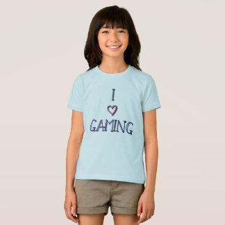 Eu amo a camisa do jogo para meninas