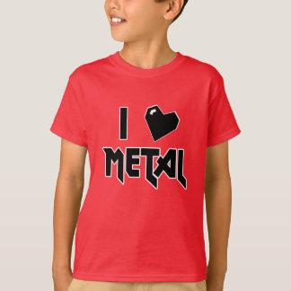 EU AMO a camisa do METAL