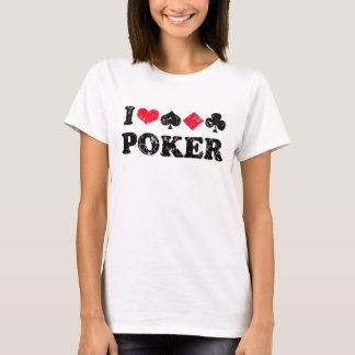 Eu amo a camisa do póquer t
