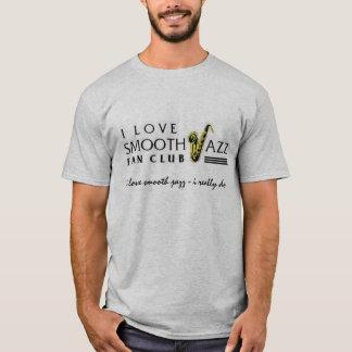 Eu amo a camisa lisa 6501 do cinza do clube de fãs
