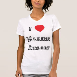 Eu amo a camisa marinha da biologia t-shirts