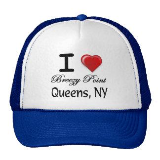 Eu amo a camisa ventoso do alivio do Queens NY do  Boné