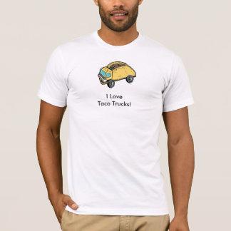 Eu amo a camiseta dos caminhões do Taco para
