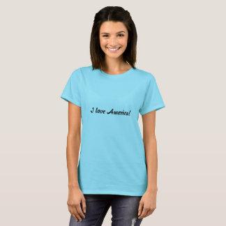 Eu amo a camiseta simples do roteiro de América