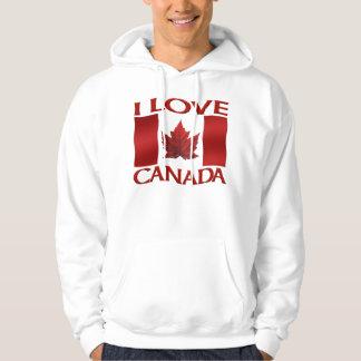 Eu amo a camisola de Canadá da lembrança do Hoodie Moletom