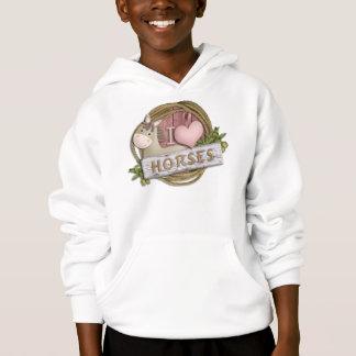 EU AMO a camisola do Hoodie dos miúdos da