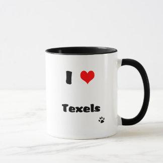 Eu amo a caneca da cobaia de Texels