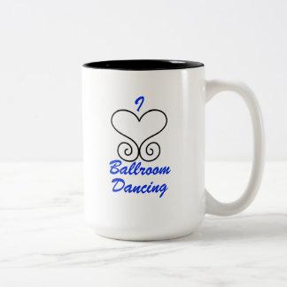 Eu amo a caneca de café da dança de salão de baile