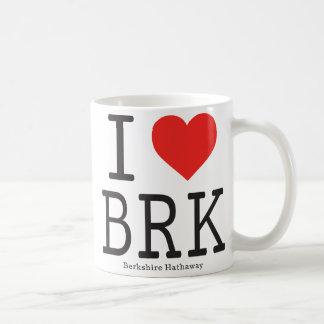Eu amo a caneca de café de Berkshire Hathaway