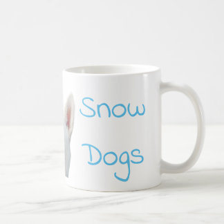 Eu amo a caneca de café do rouco Siberian dos cães